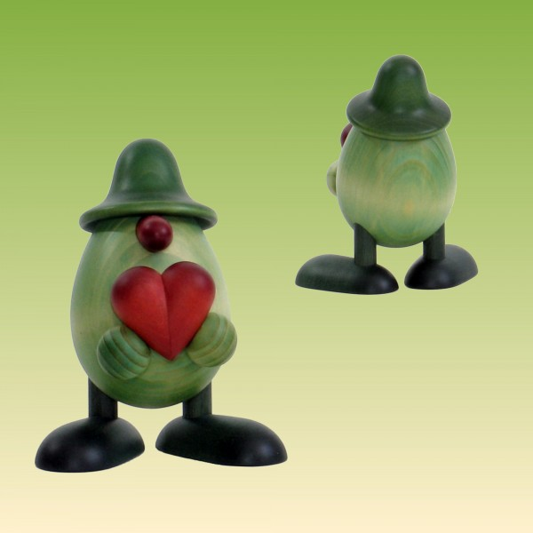 Grünes Männlein mit Herz