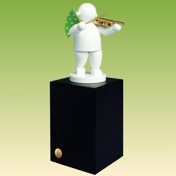 Engel mit Geige, auf großem Sockel
