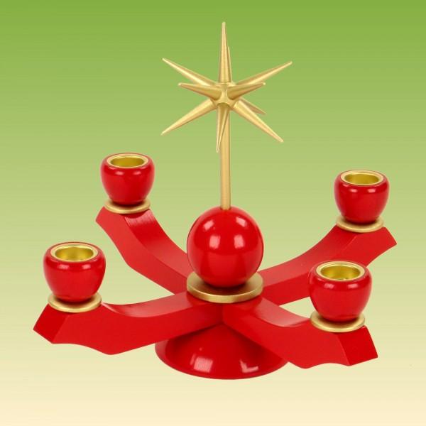Adventsleuchter klein, rot
