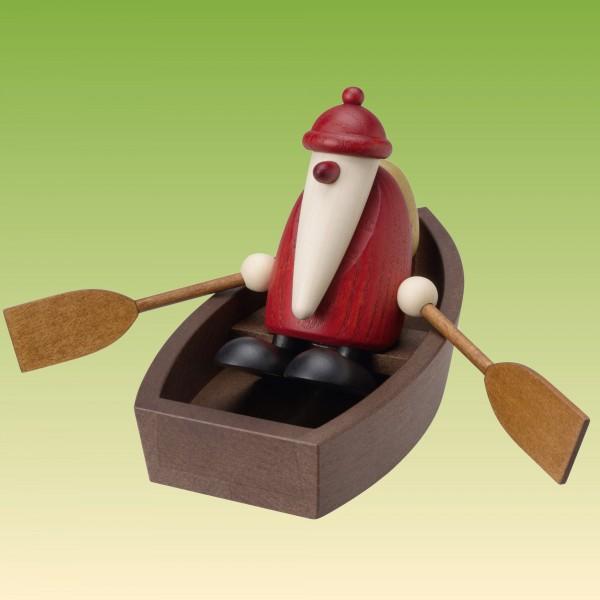 Weihnachtsmann im Ruderboot