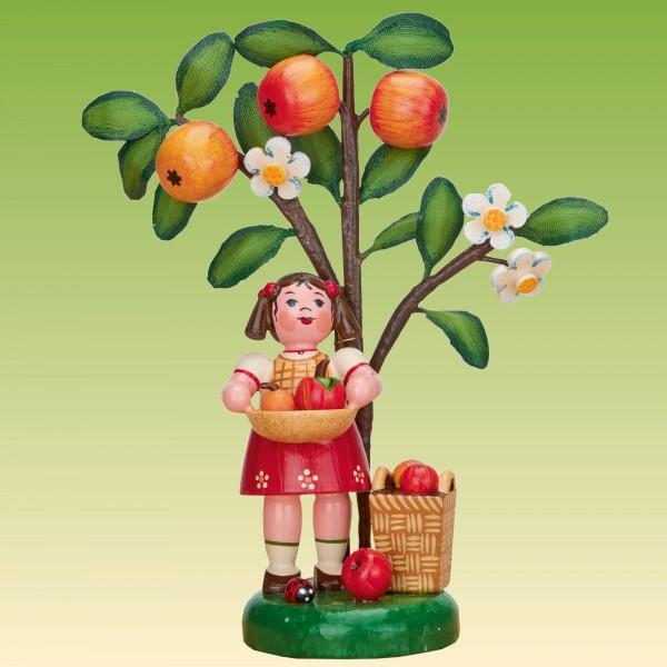 Jahresfigur Mädchen mit Apfel