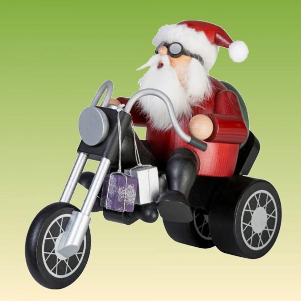 Räuchermann Weihnachtsmann auf Trike