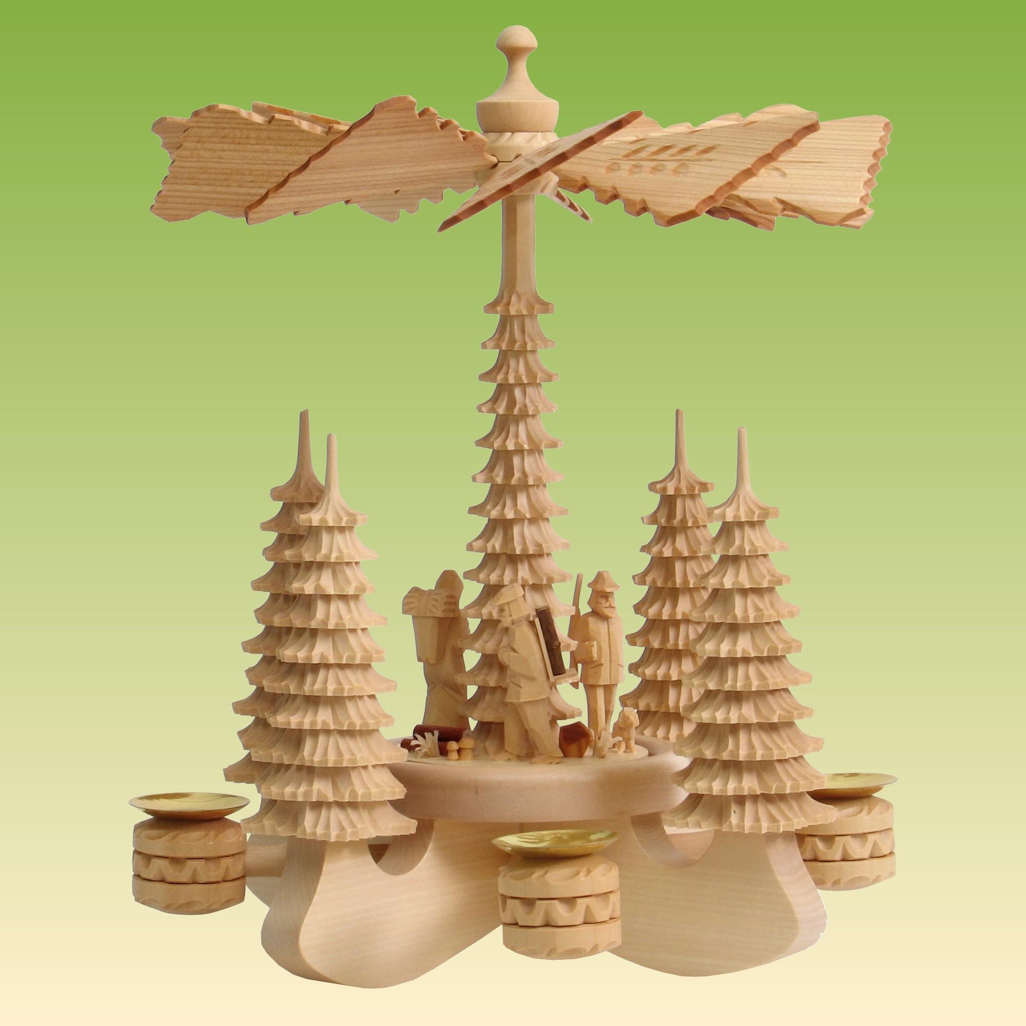 tischpyramide gro 3 waldfiguren pyramiden geschnitzt. Black Bedroom Furniture Sets. Home Design Ideas