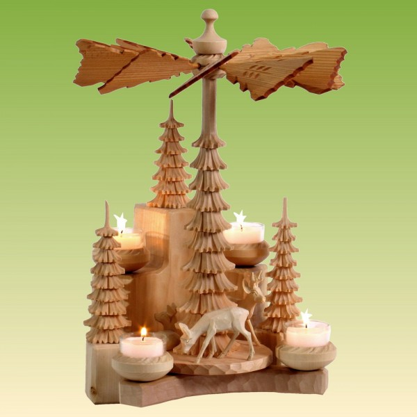 Wandpyramide mit Rehe, natur