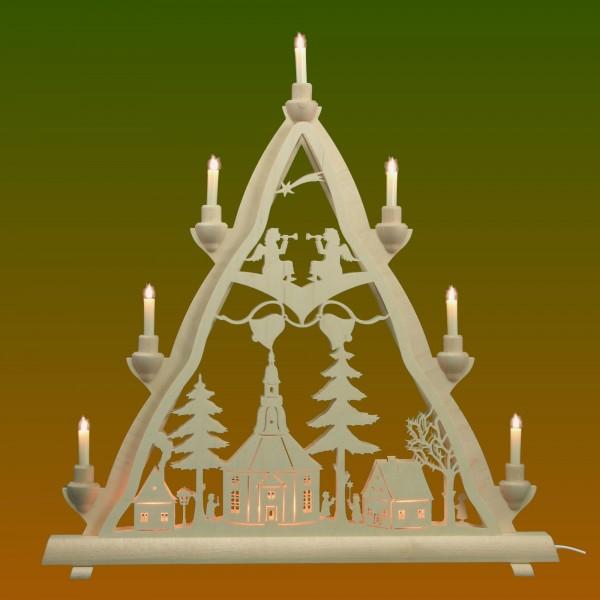Lichterspitze Motiv Seiffener Kirche