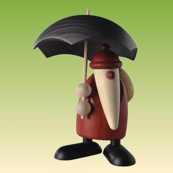 Weihnachtsmann mit Schirm