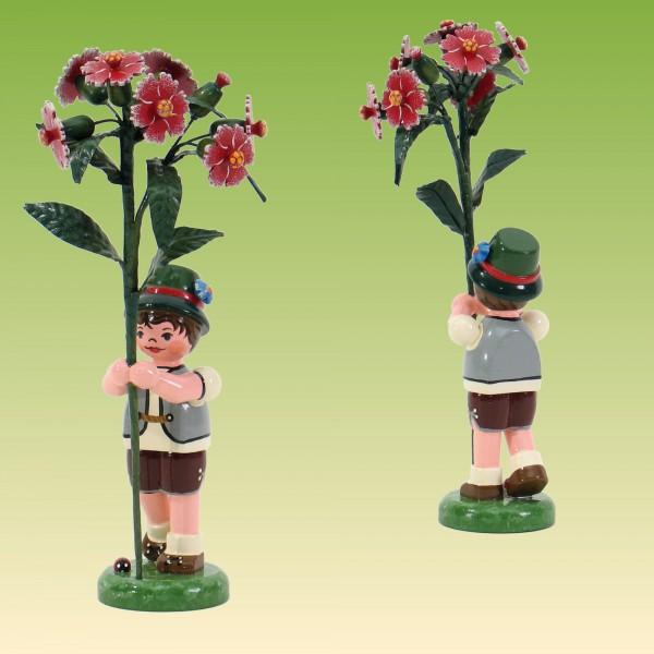 Blumenkind Junge mit Buschnelke 17 cm
