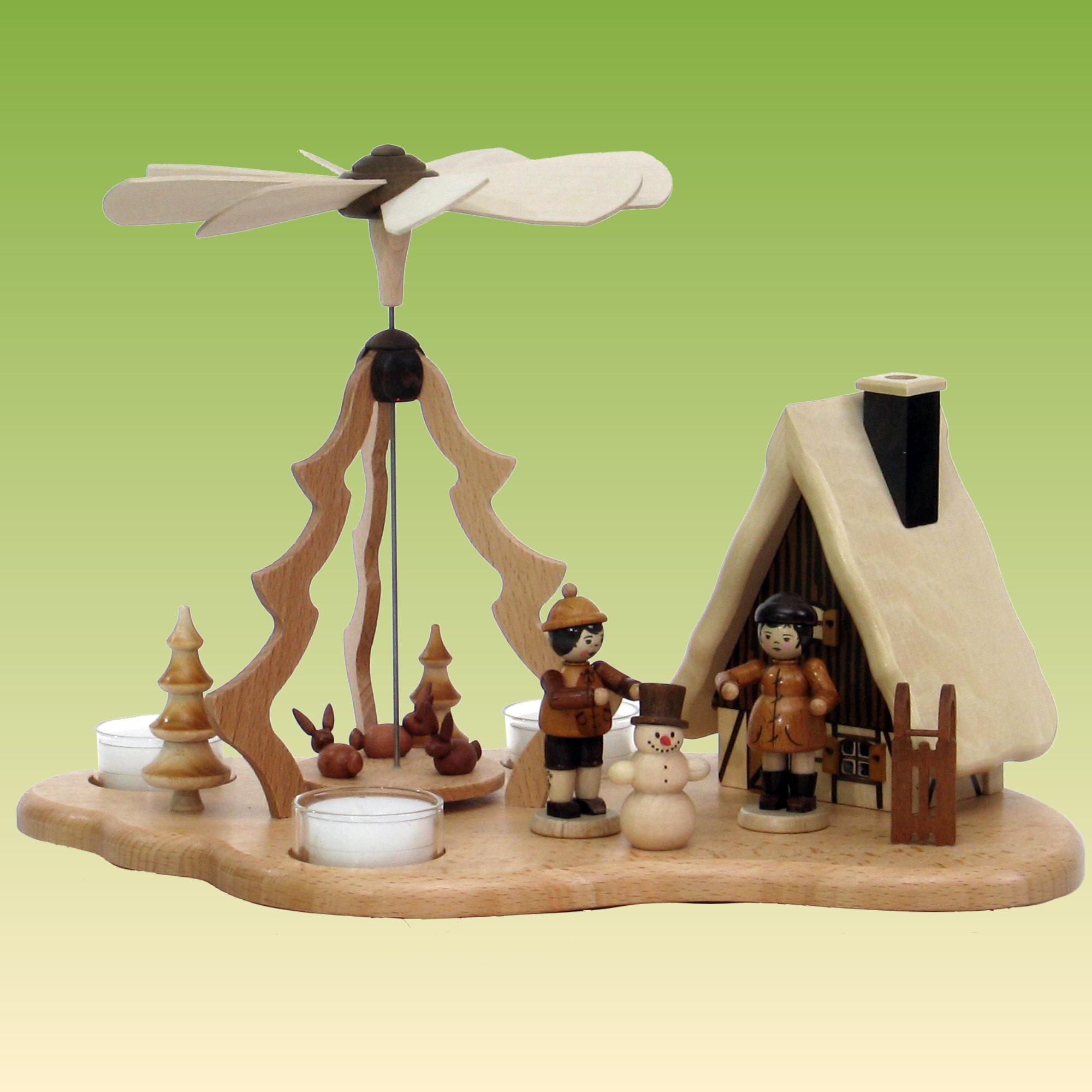 pyramide mit winterkinder und r ucherhaus pyramiden. Black Bedroom Furniture Sets. Home Design Ideas