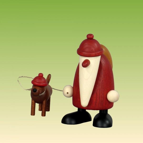 Weihnachtsmann mit Dackel