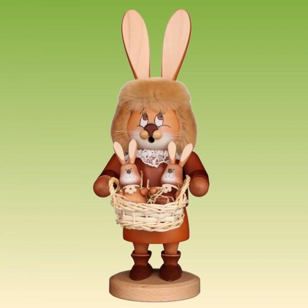 Räuchermann Wichtel Häsin mit Hasenbabys