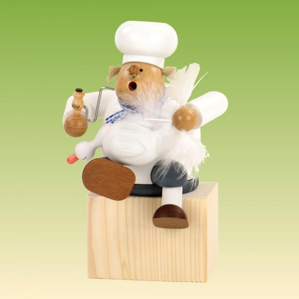 Räuchermann Kantenhocker Koch mit Gans