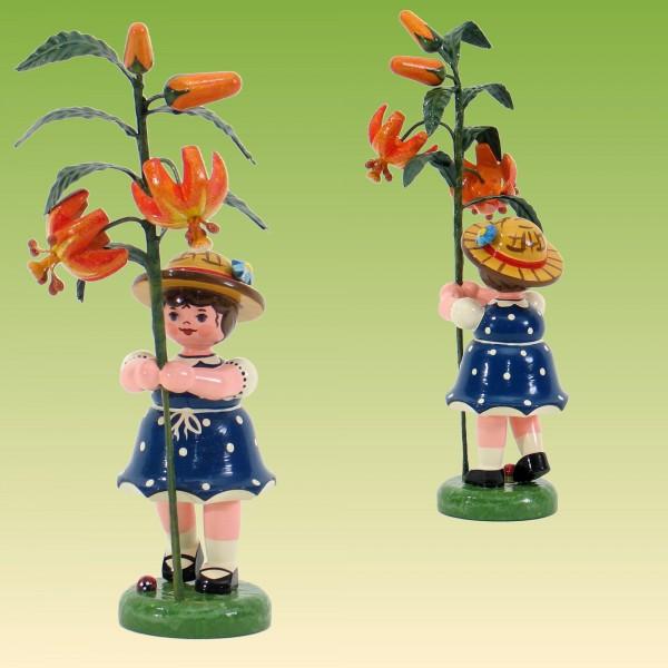 Blumenkind Mädchen mit Lilie 17 cm