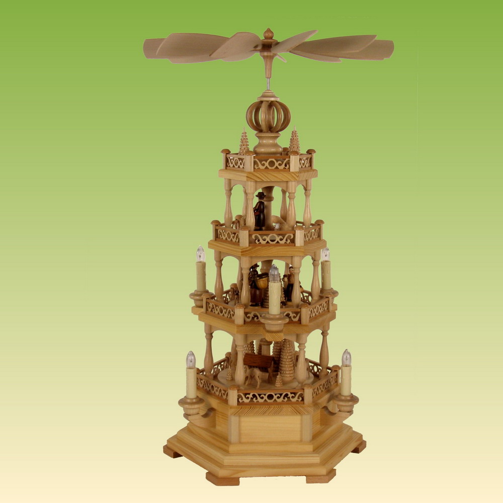 pyramiden erzgebirgische volkskunst schnitzer h usl. Black Bedroom Furniture Sets. Home Design Ideas