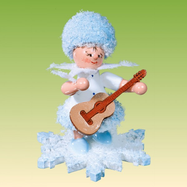 Schneeflöckchen mit Gitarre