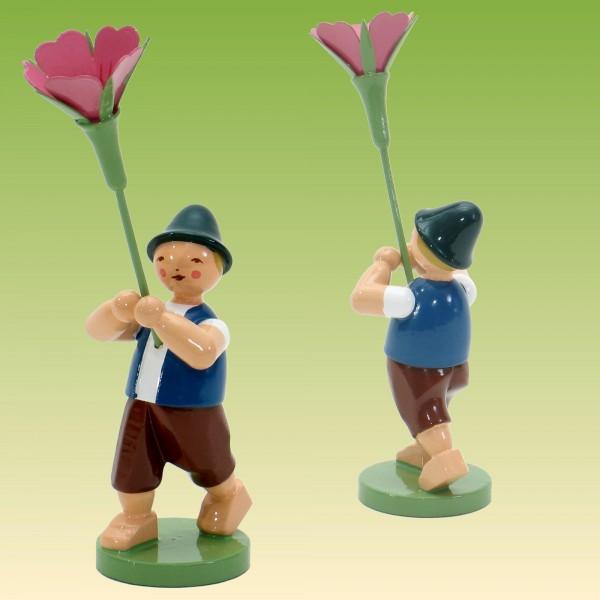 Blumenkind Junge mit Kornrade