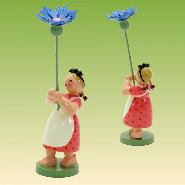 Blumenkind Mädchen mit Kornblume