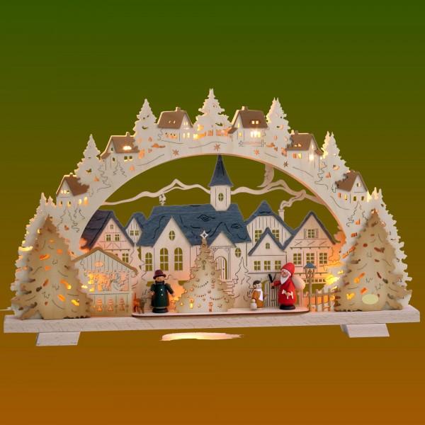 Schwibbogen Adventszeit in der Kleinstadt klein