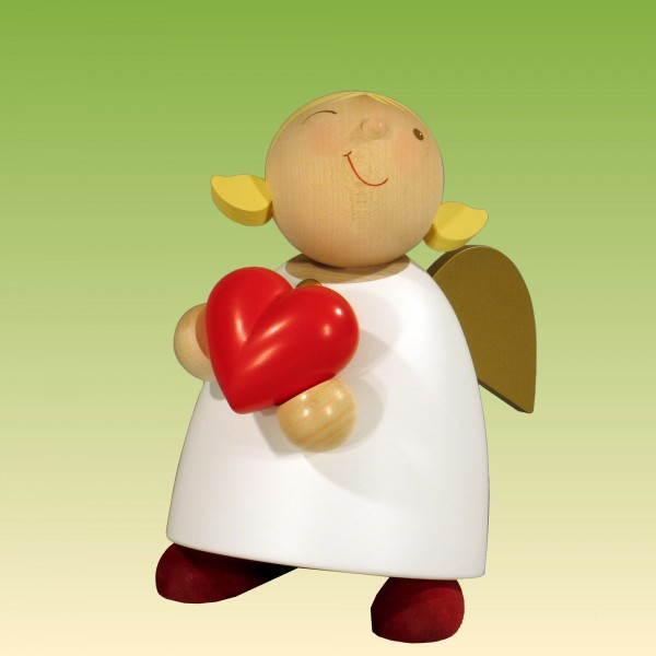 Schutzengel mit Herz 16cm
