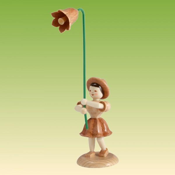 Blumenkind Mädchen mit Glockenblume