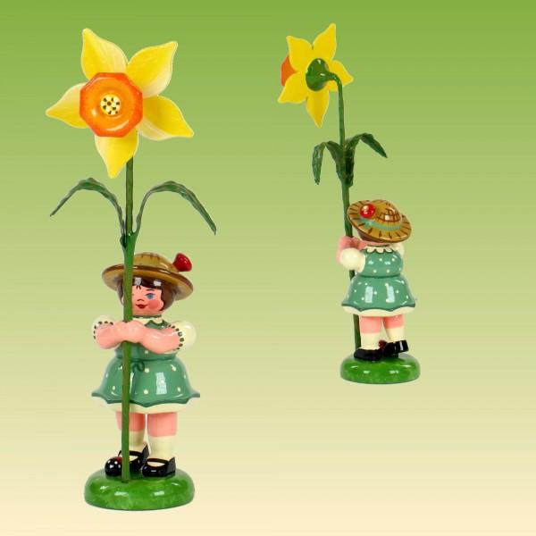 Blumenkind Mädchen mit Narzisse