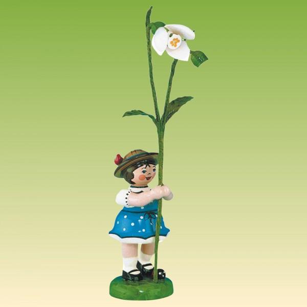 Blumenkind Mädchen mit Schneeglöckchen