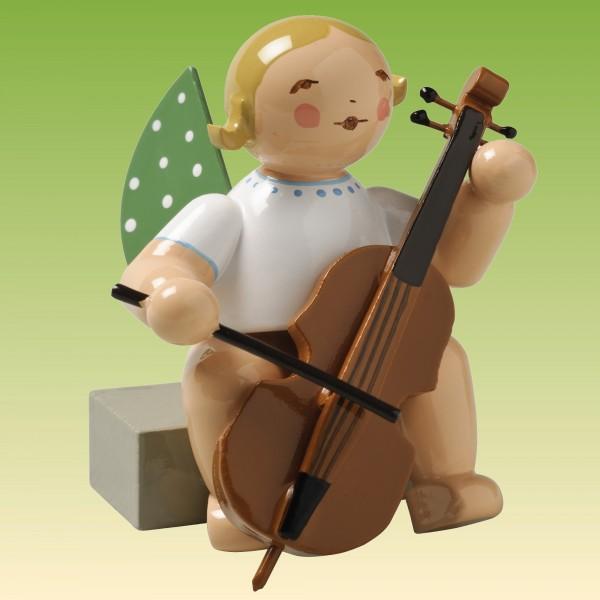 Engel mit Violoncello sitzend