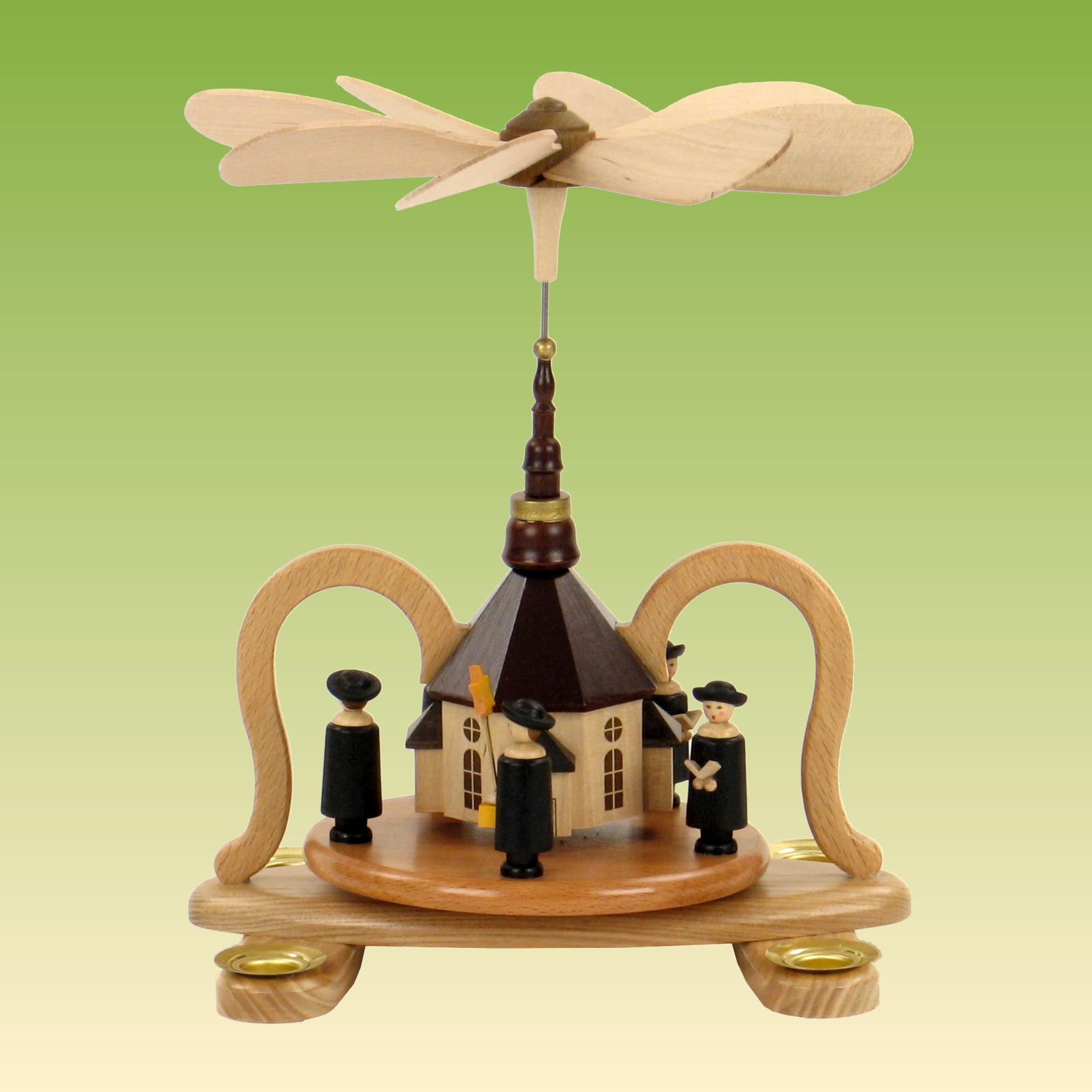 pyramide mit seiffener kirche pyramiden natur. Black Bedroom Furniture Sets. Home Design Ideas
