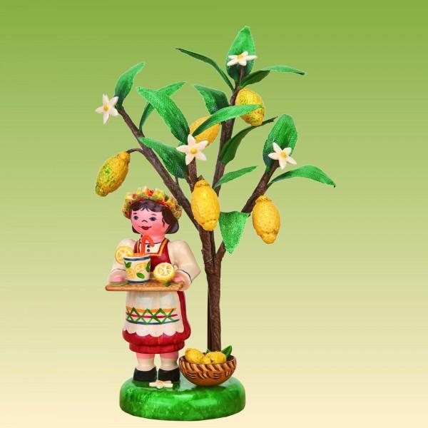 Jahresfigur Mädchen mit Zitrone