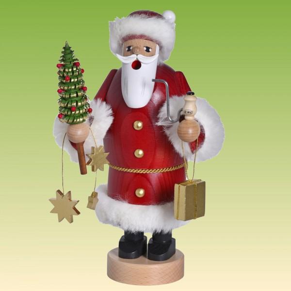 Räuchermann Weihnachtsmann mit Bäumchen