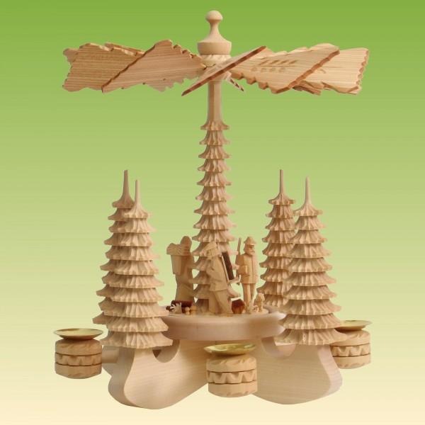 Tischpyramide groß, 3 Waldfiguren