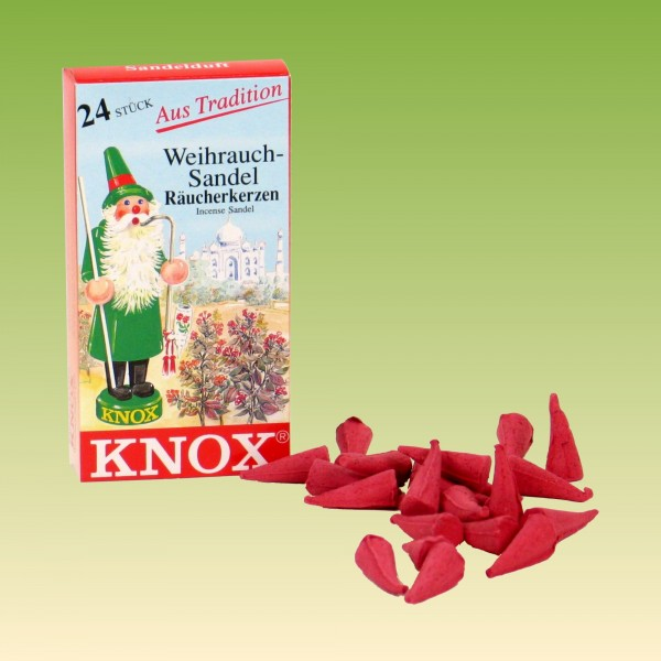 Räucherkerzen Knox Sandelduft