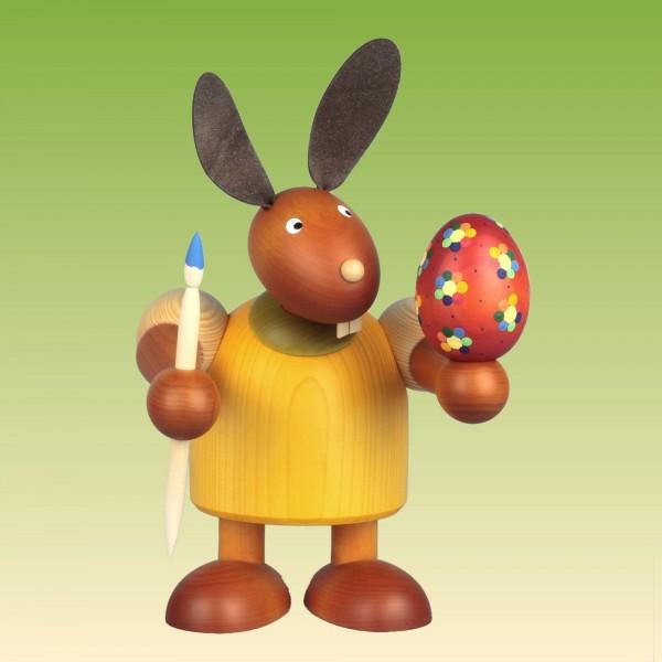 Hase mit Pinsel und Ei