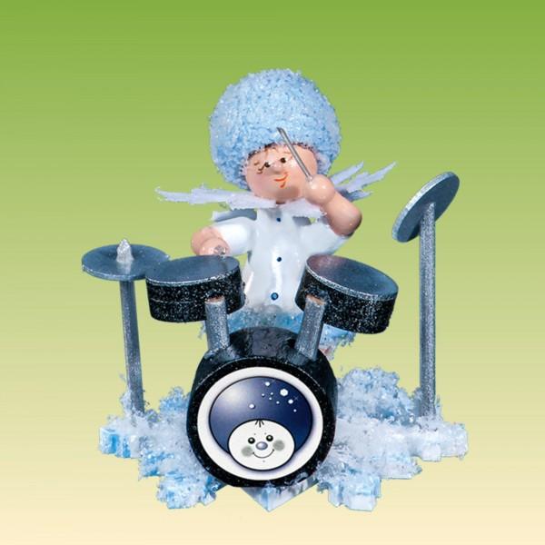 Schneeflöckchen mit Schlagzeug