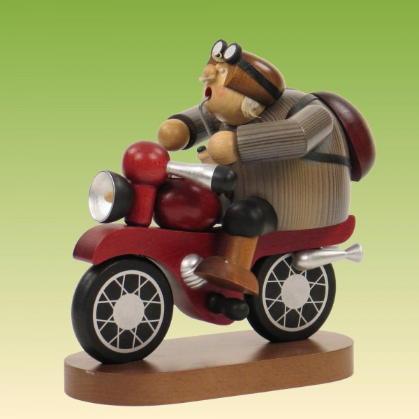 Räuchermann Motorradfahrer