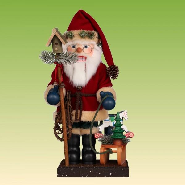 Nussknacker Weihnachtsmann mit Schlitten