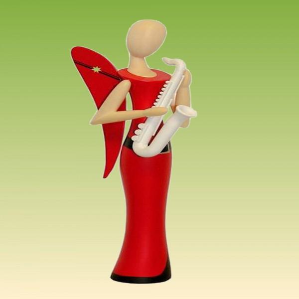 Engel stehend mit Saxophon