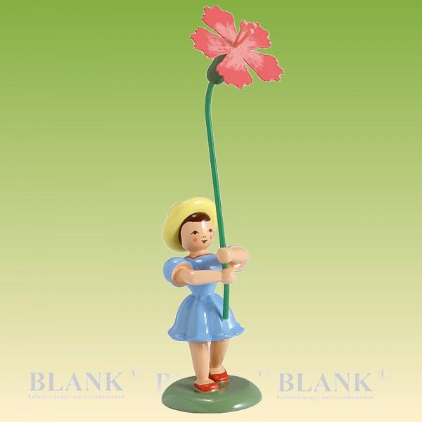 Blumenkind Mädchen mit Nelke