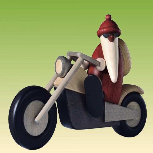 Weihnachtsmann mit Mororrad
