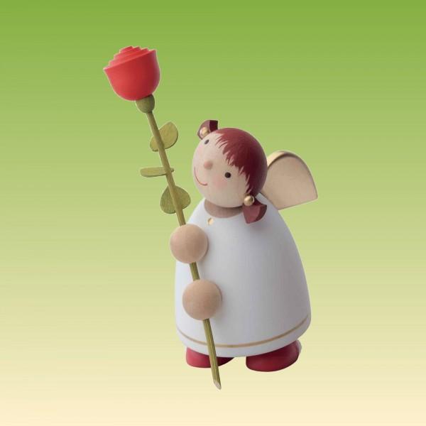 Schutzengel mit Rose