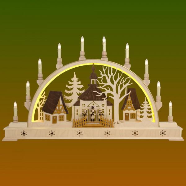 Schwibbogen Kirche mit Kurrendesänger
