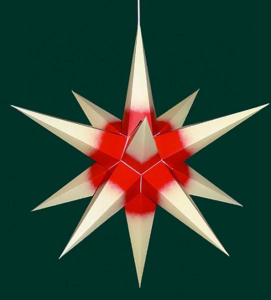 Haßlauer Adventsstern cremefarben mit rotem Kern für Außen