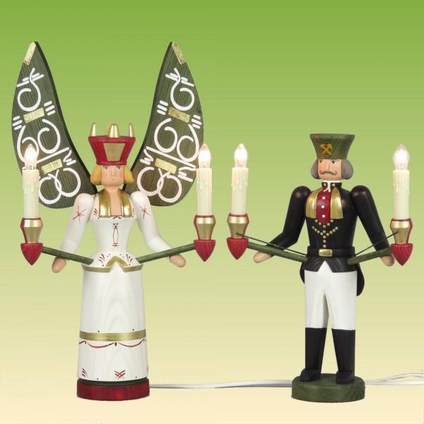 Lichterengel und Lichterbergmann, elektrisch