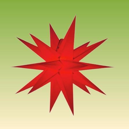 Adventsstern zum Aufklappen No. 5, rot