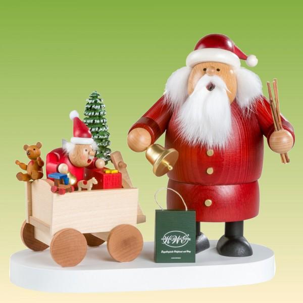 Räuchermann Weihnachtsmann mit Kind limitiert