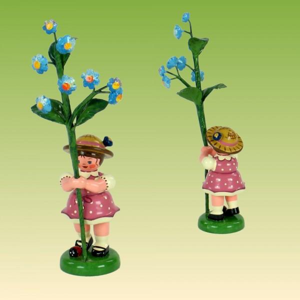 Blumenkind Mädchen mit Vergissmeinnicht
