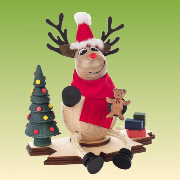 Räuchermann Elch Nico der Weihnachtsmann